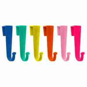 Multicoloured Felt Door Hanger Hook (Set of 6) by Present Time