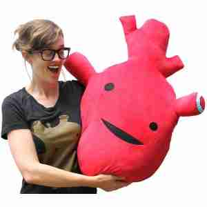 Big Big Heart - Plush Heart Toy by I Heart Guts on Fox & Monocle
