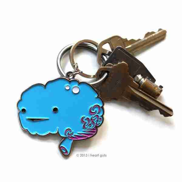 Brain Key Chain by I Heart Guts on Fox & Monocle