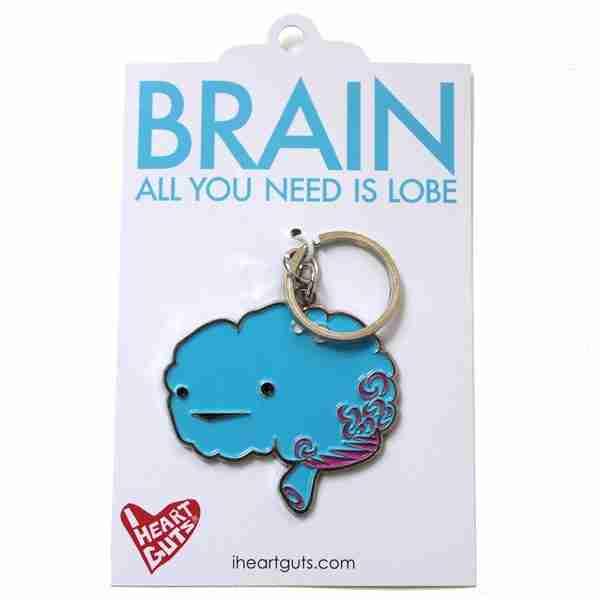 Brain Key Chain by I Heart Guts on Fox & Monocle (in bag)