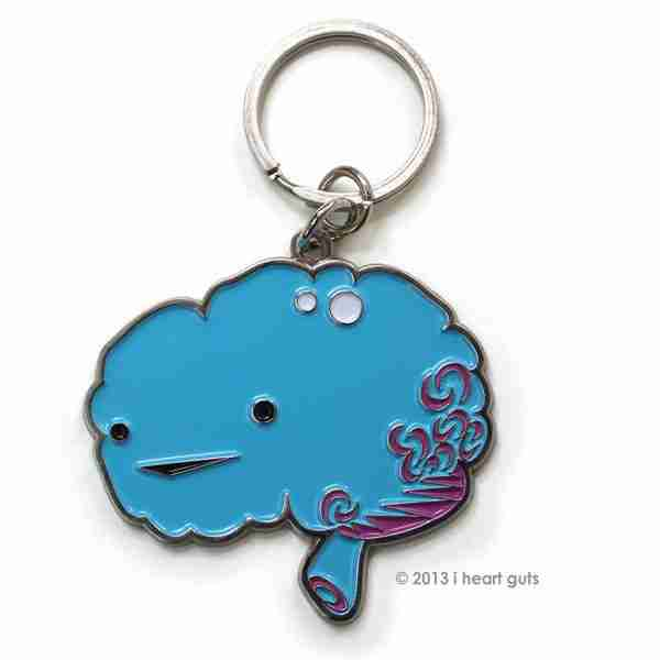 Brain Key Chain by I Heart Guts on Fox & Monocle (with keyring)