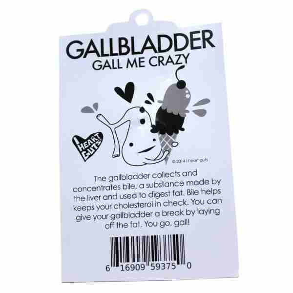 Gallbladder Organ Key Chain by I Heart Guts - Fox & Monocle (tag text)