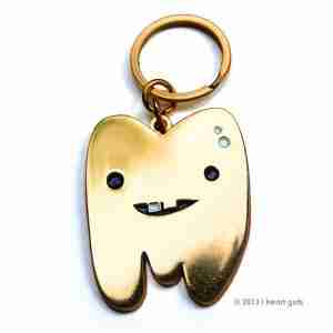 Golden Tooth Keychain by I Heart Guts on Fox & Monocle Australia