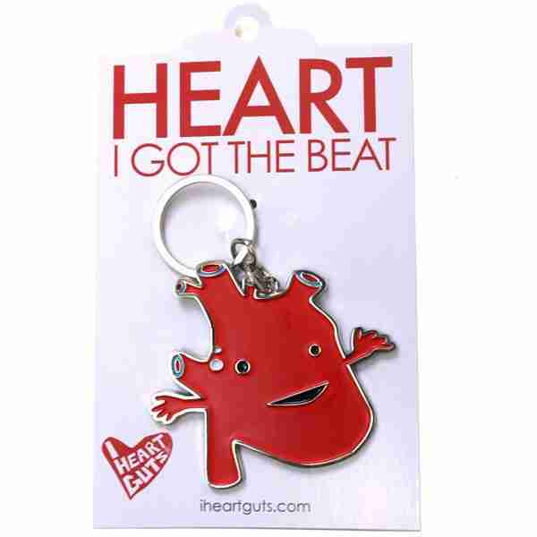 Heart Organ Key Chain by I Heart Guts - Fox & Monocle (tag)
