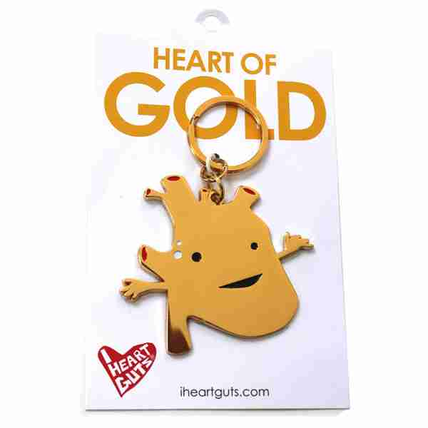 Key chain - Heart of Gold by I Heart Guts