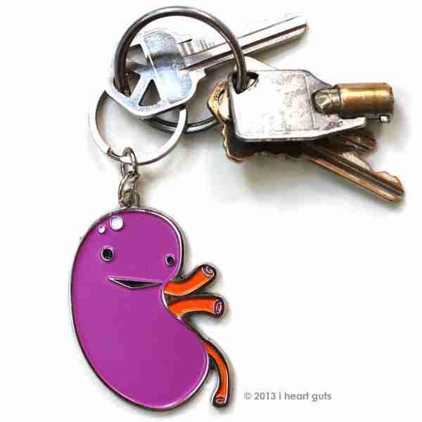 Kidney Organ Key Chain by I Heart Guts on Fox & Monocle