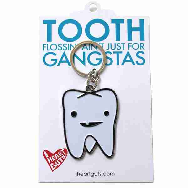 Tooth Key Chain by I Heart Guts on Fox & Monocle