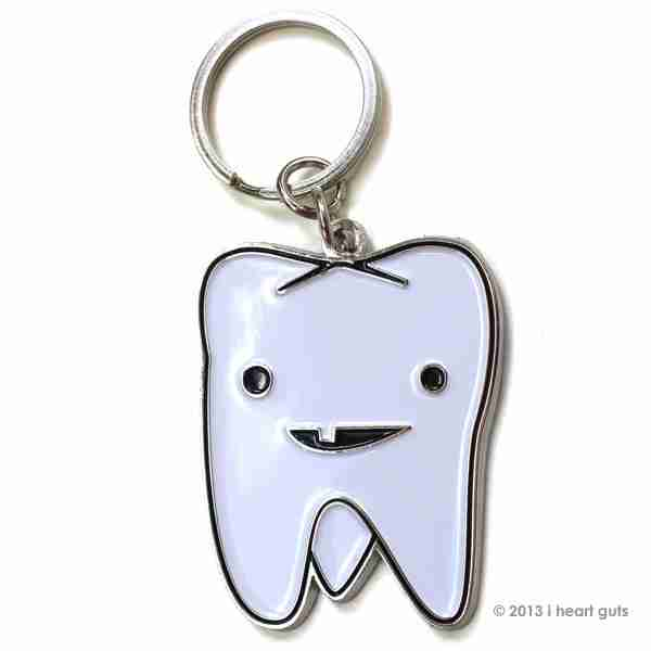 Key chain - Tooth Flossin by I Heart Guts