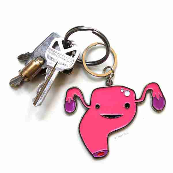Uterus Key Chain by I Heart Guts on Fox & Monocle