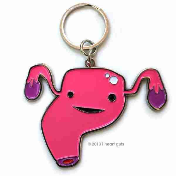 Uterus Key Chain by I Heart Guts on Fox & Monocle