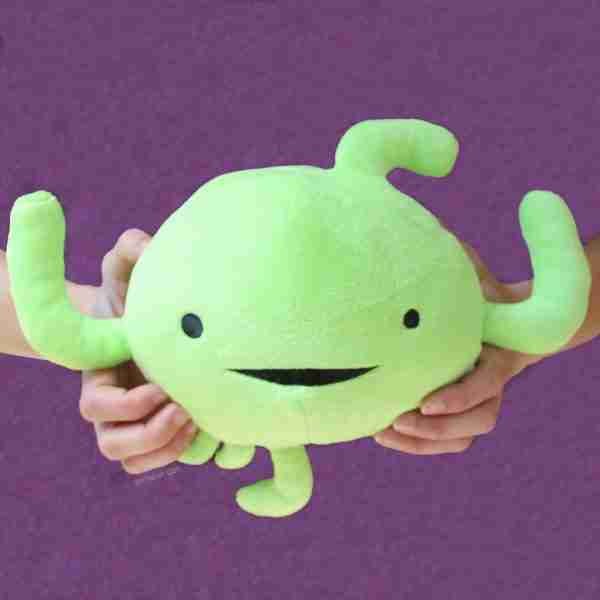 Lymph Node Organ Plush Toy - I Heart Guts on Fox & Monocle