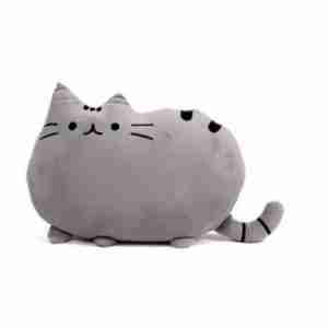 Pusheen the Cat Plush Cushion on Fox & Monocle - Grey