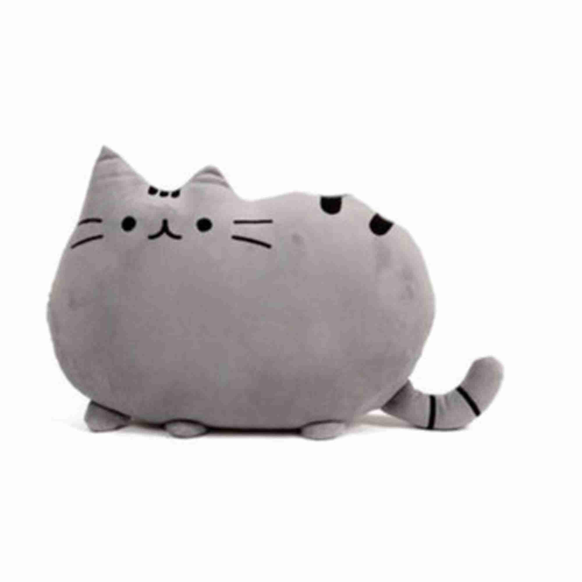 Pusheen Cat Plush Cushion - Grey