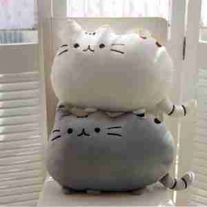 Pusheen the Cat Plush Cushion on Fox & Monocle - White