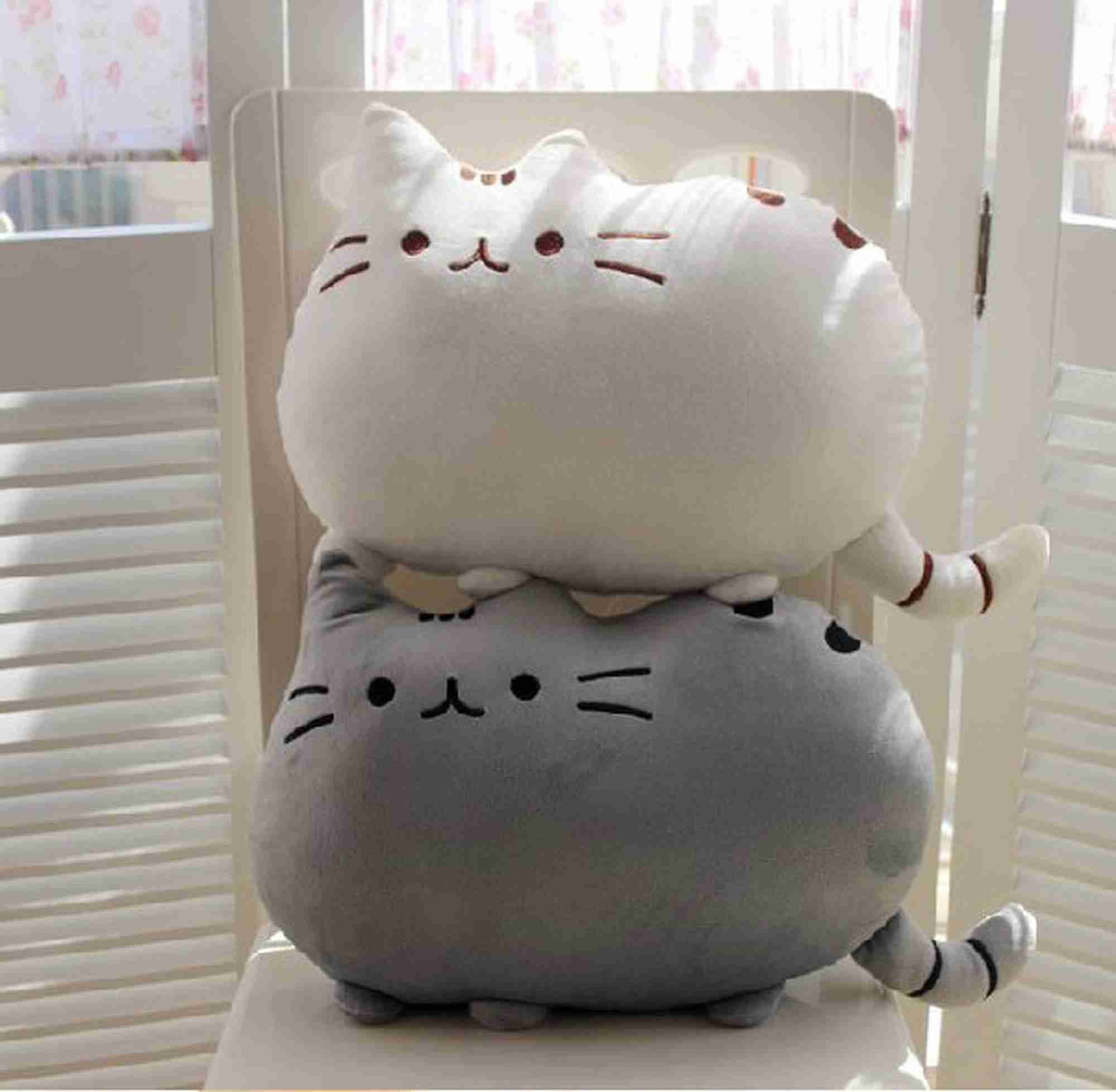 Pusheen Cat Plush Cushion - Grey