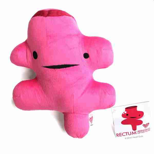 Rectum Plush Toy Collectible - I Heart Guts on Fox & Monocle