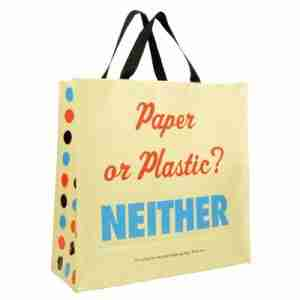 Eco Friendly Shoppers Tote Bag - Paper Or Plastic?