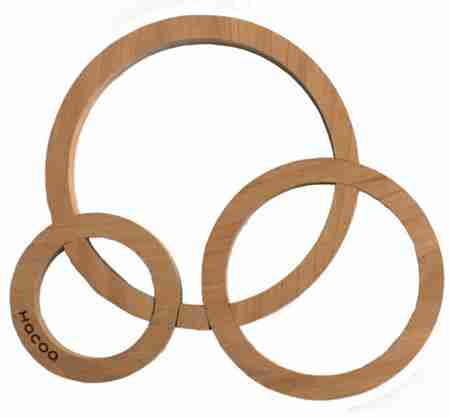 Quoit - Wooden Heat Mat Trivet in Alder by Hacoa