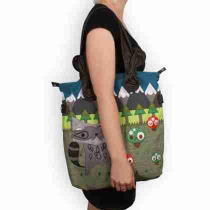 Racoon Tote Bag by Crowded Teeth