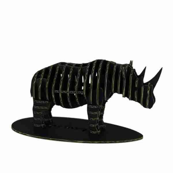 Rhino 3D Cardboard Figurine by d-Torso