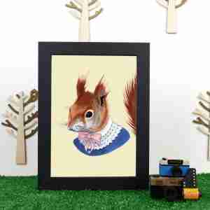 Ryan Berkley Well Dressed Red Squirrel Framed Print Wall Art