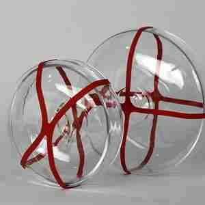 "The ""Madkasse"" Small Pure Glass Food Box - by Sia Mai Danish Handmade Glassware"