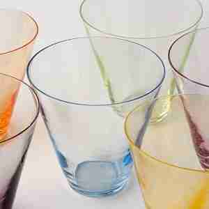 "The ""LESS"" Drinking Glass Fine Tumbler in Yellow - by Sia Mai Danish Handmade Glassware"