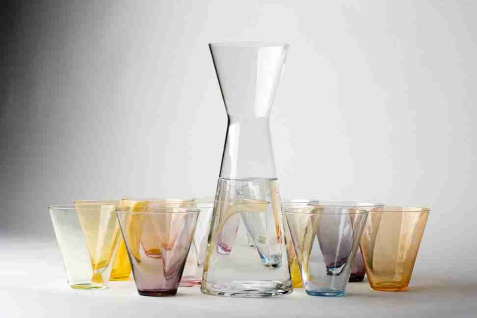 "The ""LESS"" Crystal Glass Decanter - by Sia Mai Danish Handmade Glassware"