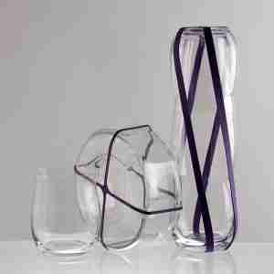 "The ""feltflaske"" Crystal Glass Flask Decanter - by Sia Mai Danish Handmade Glassware"