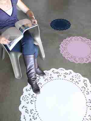 Lacy Sunday Floor or Wall Sticker by Designer Jan Habraken
