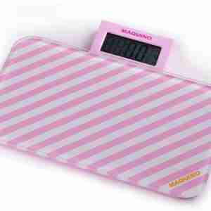 Bathroom Scales: Pattern Range - Pink Stripes