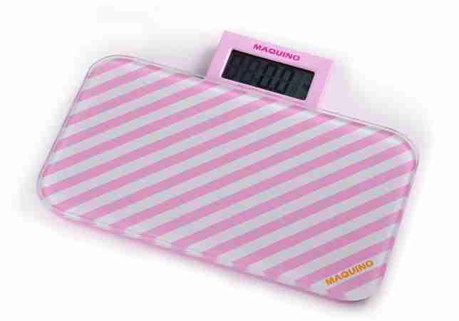 Bathroom Scales: Pattern Range - Pink Stripes