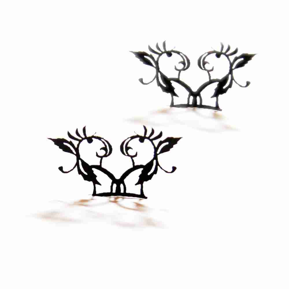Peach Blossom Paper Eyelashes (Small) by PAPERSELF