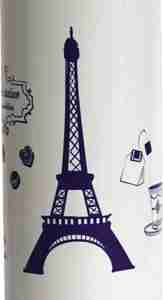 Stainless Steel Drink Bottle - Eiffel White