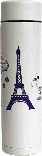 Stainless Steel Drink Bottle - Eiffel White