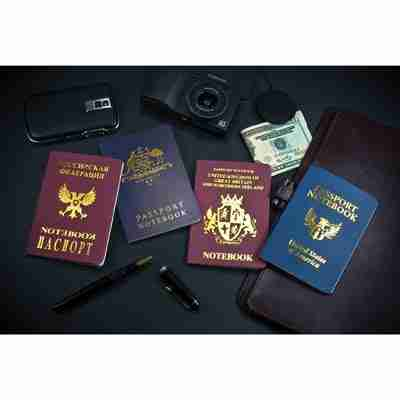 On The Run Passport Notebooks Set of 4