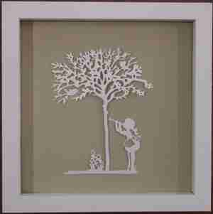 """Paper Cut"" Luxury Fine Art - Sweet Music Children at Play (Framed)"