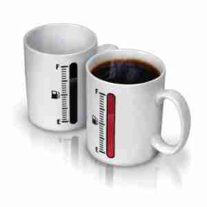 Tank Up - Cool Coffee Mug with Liquid Level Gauge