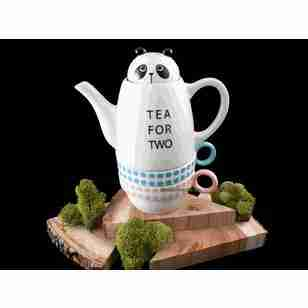 Tea for Two Panda (Stackable) Tea Set by Shinzi Katoh