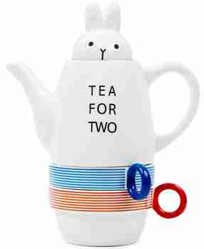 Tea for Two Rabbit (Stackable) Tea Set by Shinzi Katoh