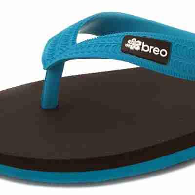 Eco Friendly Breo Thongs in Blue/Brown