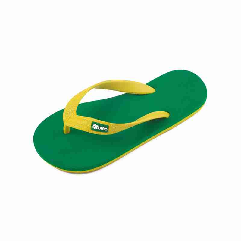 Eco Friendly Breo Thongs - Brazil (Green/Yellow)