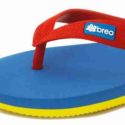 Eco Friendly Breo Thongs in Red/Blue/Yellow