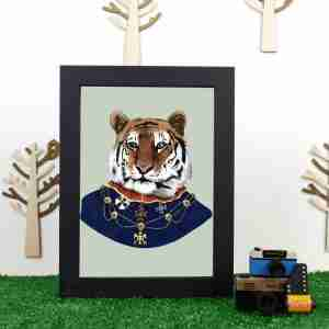 Ryan Berkley Well Dressed Tiger Framed Print Wall Art
