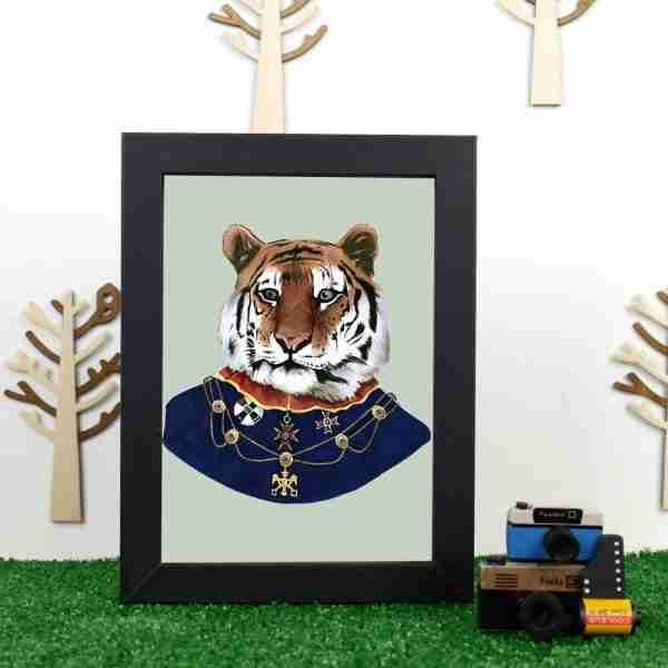 Ryan Berkley Well Dressed Tiger Framed Print Wall Art