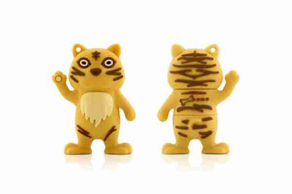 Bone Collection Yellow Tiger 4Gb USB Flash Personal Digital Storage Drive