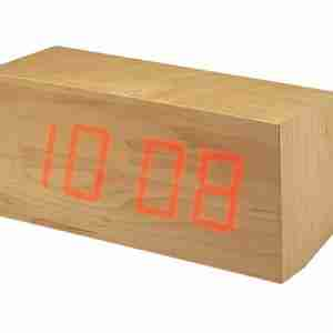 """Toca"" Wooden Block Clock Type II - LED Lit"