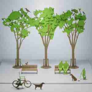 1/100 Mini Architectural Model: Trees