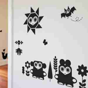 Animal Friendlies Wall Decals by Upper Playground