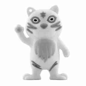 Bone Collection White Tiger 4Gb USB Flash Personal Digital Storage Drive